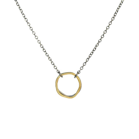 Rayna necklace gold & sterling silver