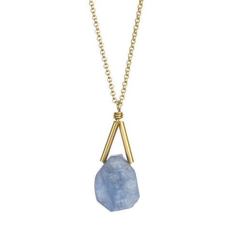 Rio Kyanite Gold Necklace