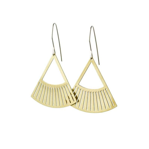 Salta Earrings- Brass