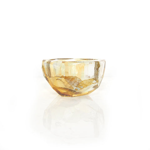 Crystal Bowl Small Amber