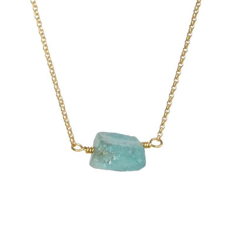 Zeeba Apatite gold necklace