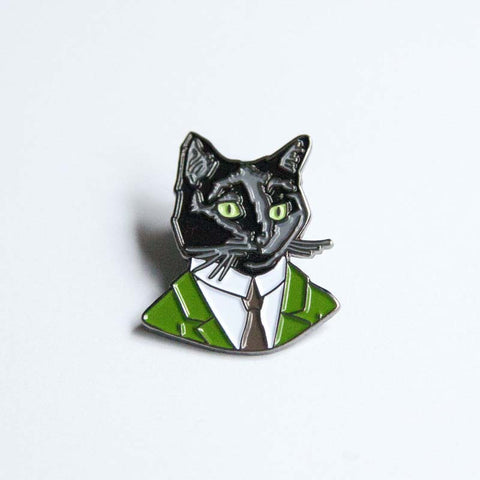 Black Cat Gentleman pin