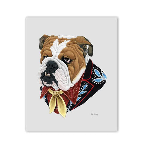 English Bulldog 5 x 7 print