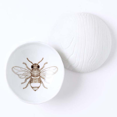 Woodgrain Dish Bee