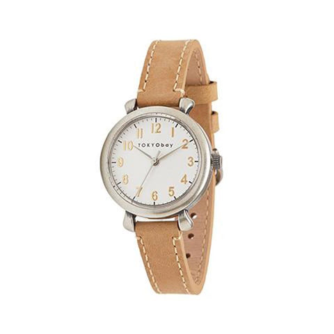 Frankie Leather Watch: Beige