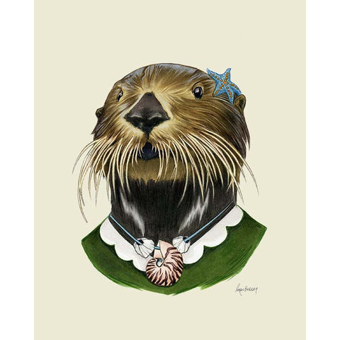 Sea Otter Lady 5 x 7 print