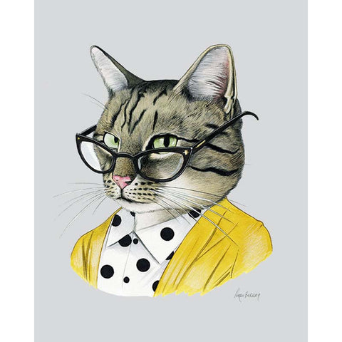 Tabby Cat Lady 8 x 10 print