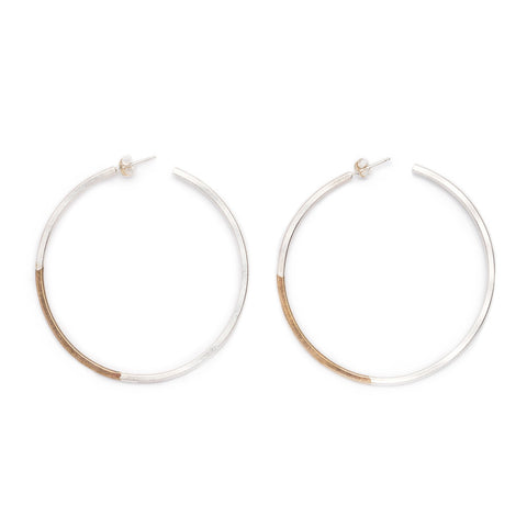 Koa Hoop Large earrings