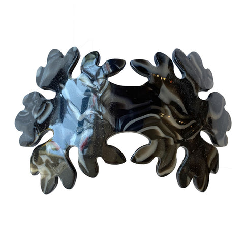 Leaves Volume Barrette Black Pearl