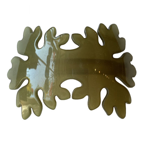 Leaves Volume Barrette Green