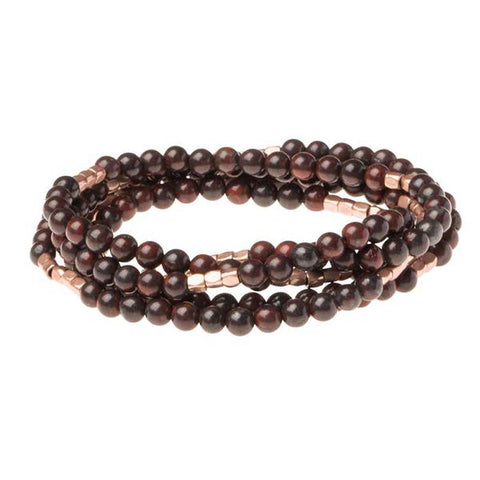 Stone wrap bracelet bloodstone/rose gold