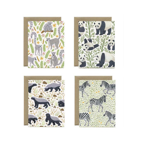 Yeppie Black & White Animals Boxed Cards