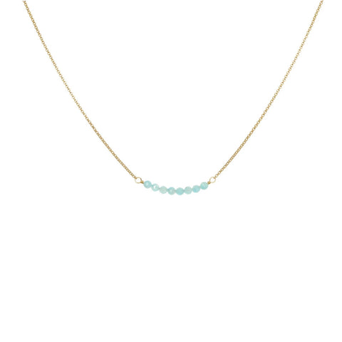 Cari Necklace Gold/Amazonite