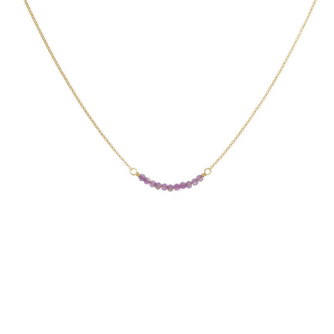 Cari Necklace Gold/Amethyst