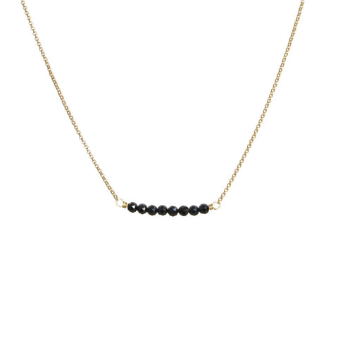 Cari Necklace Gold/Black Spinel