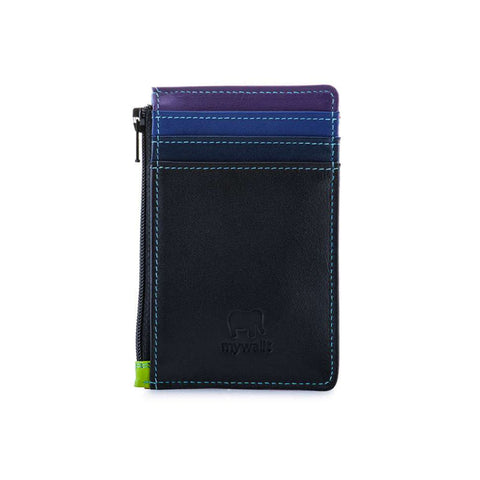 Credit Card Holder with Coin Purse (Black Pace)