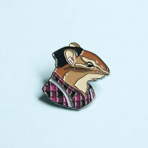 Chipmunk Gentleman pin