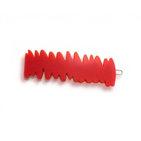 Red Scratch Barrette