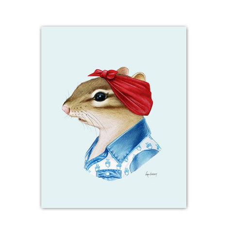 Chipmunk Lady 8x10 print
