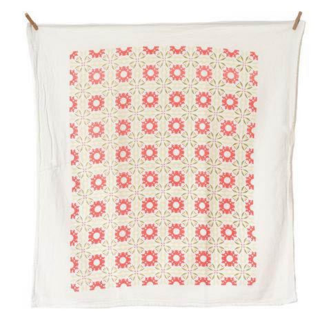 Chicory Coral Tea Towel