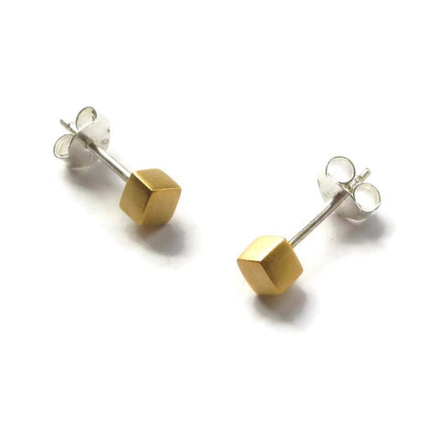 Cube Studs Gold