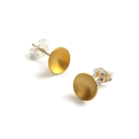 Large Disc gold studs