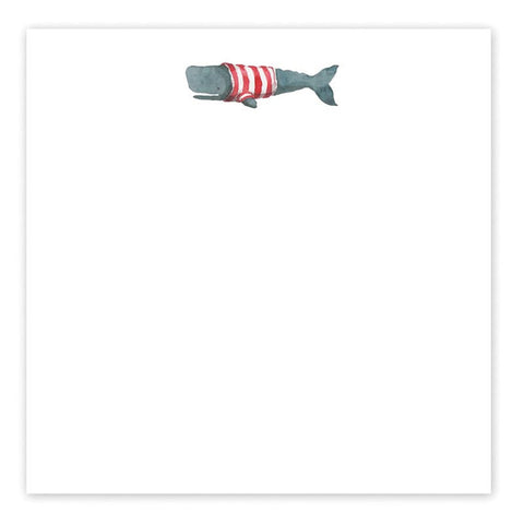 Whale in Sweater Notepad