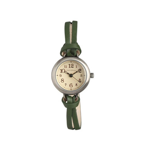 Eva Leather Watch: Green