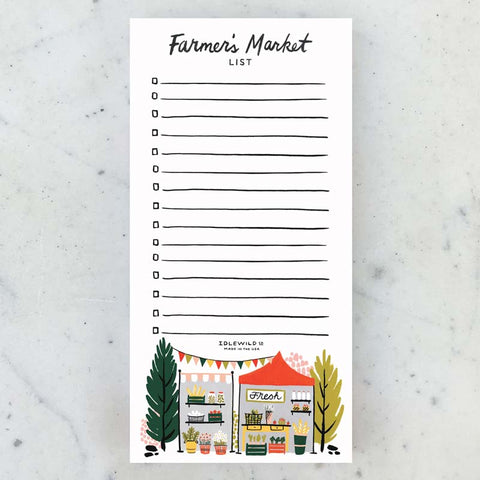 Farmer's Market Notepad
