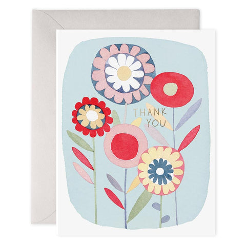 Folky Flower Thank You Boxed Cards
