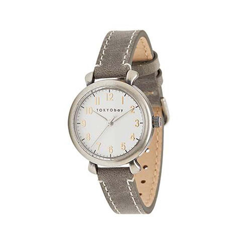 Frankie Leather Watch: Grey