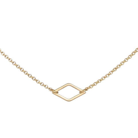 Small Gold Diamond Necklace