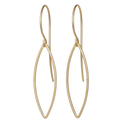 Marquis Gold Earrings