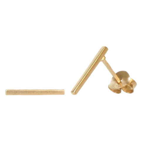 STUDS: Thin Bar Gold Earrings