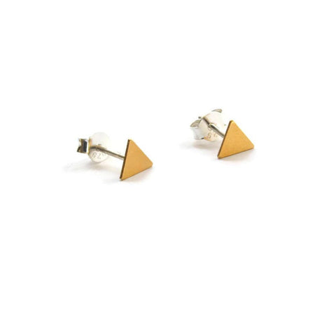 Triangle gold studs