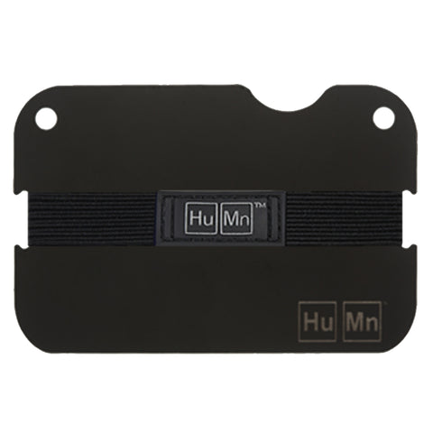 HuMn Mini RFID Blocking Wallet Matte Black