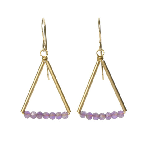 Kaylyn Earrings Gold/Amethyst