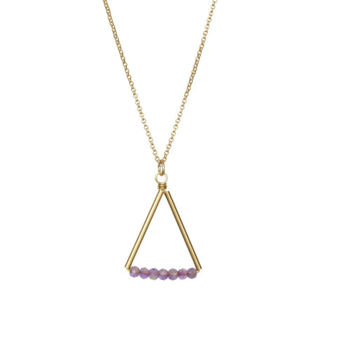 Kaylyn Necklace Gold/Amethyst