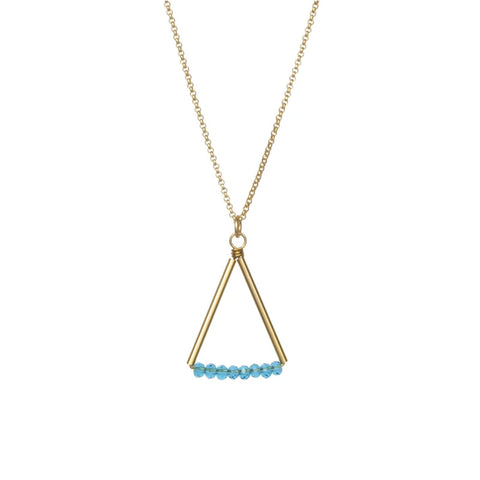 Kaylyn Necklace Gold/Blue Quartz