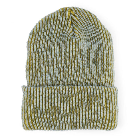 Simple Ribbed Hat Blue/Yellow