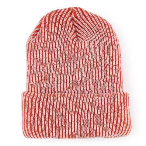 Simple Ribbed Hat Pink/Orange