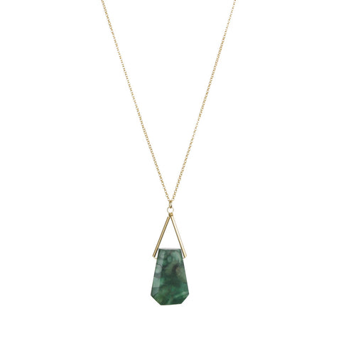Lago Gold Necklace Jade