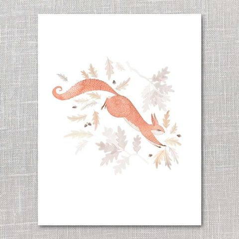 Oh My Cavalier: Print - leaping squirrel