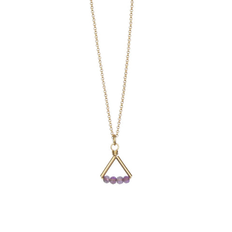 Lin Necklace Gold/Amethyst