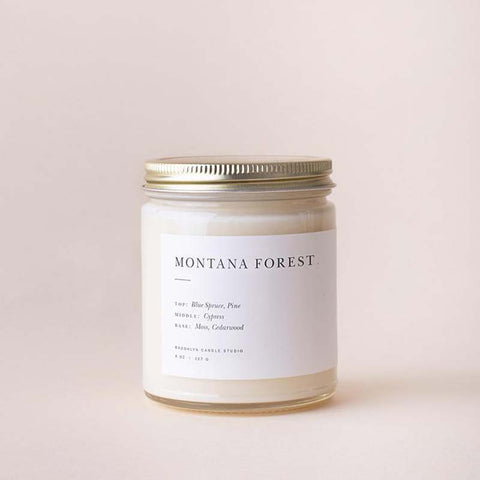 Montana Forest Minimalist Jar Candle