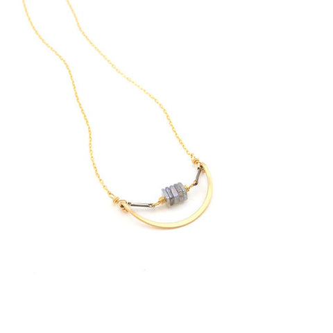 Nested Labradorite necklace