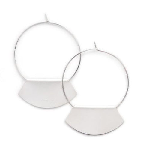 Novi hoop silver earrings