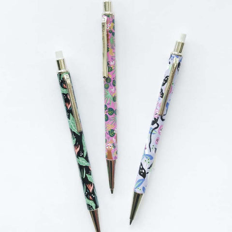 Bright Floral Mechanical Pencil Set of 3