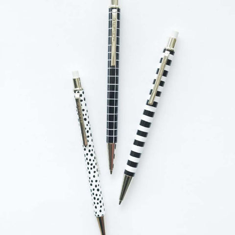 Black and White Mechanical Pencil Set of 3