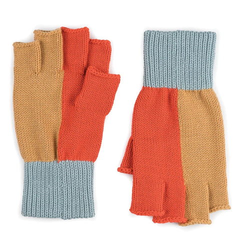 Polder Fingerless Gloves Camel/Poppy